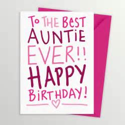 best auntie birthday card by a is for alphabet notonthehighstreet