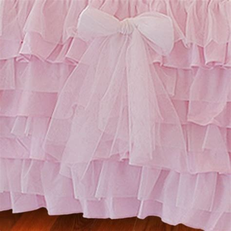 Pink Bed Skirt by Ruffle Bed Skirt