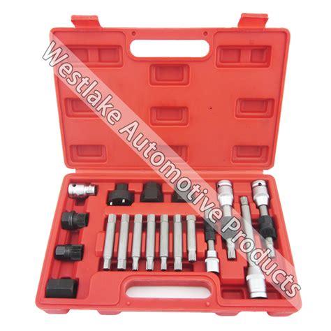 alternator freewheel pulley repair removal kit univesal 18pcs alternator repair tool of alternator freewheel pulley puller removal socket tool kit in