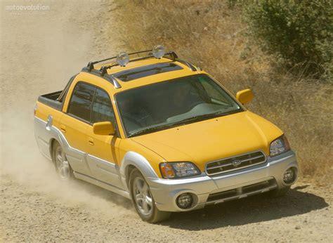 yellow subaru baja subaru baja 2003 2004 2005 2006 autoevolution