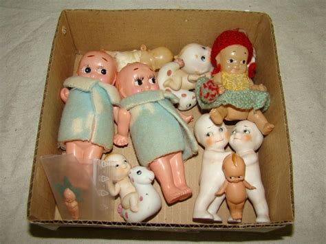 bisque kewpie doll bisque celluloid kewpie lot