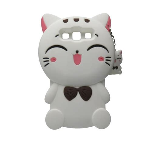 Samsung Grand Prime G530 3d Bowknot Lucky Cat Silicone coque pour galaxy grand prime 3d mignon lucky chats silicone protecteur housse etui pour