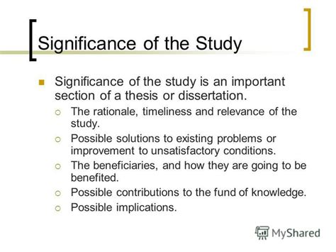 How To Make Significance Of The Study In Research Paper - quot how to write the thesis documents