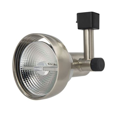 Lithonia Track Lighting lithonia lighting 1 light brushed nickel front loading
