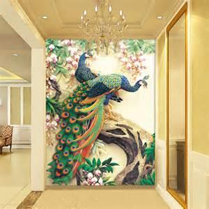online get cheap peacock wall murals aliexpress com