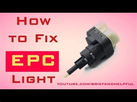 how to fix epc light on vw jetta vw throttle cleaning removal easy steps doovi