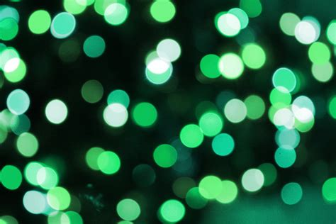 soft focus green christmas lights texture picture free