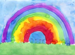 rainbow painting art projects for kids