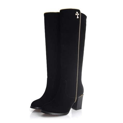 plus size 34 42 new arrive knee high boots