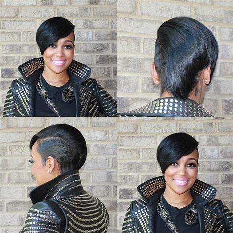 black hairstyles 2014 atl monica brown asymmetrical short haircut