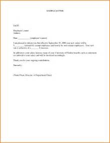Letter Decline Salary Increase 8 Salary Increase Letter Format Employee Sales Slip Template