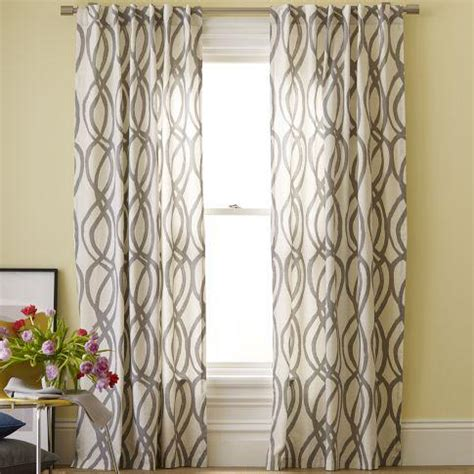 lattice drapes cotton canvas printed window panel scribble lattice