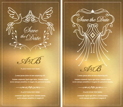 invitation design graphics invitation gold card design vector graphics free vector in