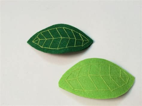 pattern for felt leaves 678 best images about diy hair accessories ideas on