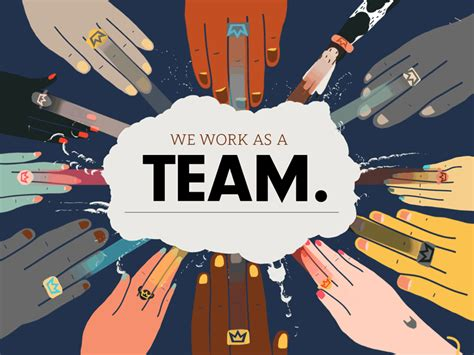 we work as a team by dribbble