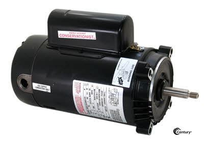 start capacitor pool motor century ust1252 capacitor start capacitor run 6 1 2 quot diameter pool motor ust1252