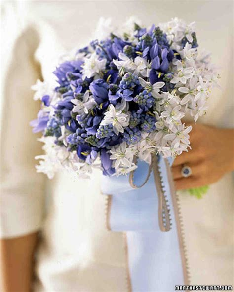 wedding bouquet blue blue wedding bouquets martha stewart weddings