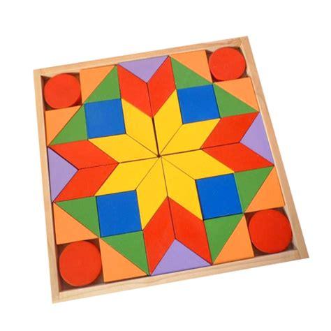 Puzzle Besi mainan kayu tangram mainan eduka pusat mainan mendidik