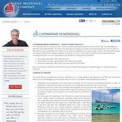 catamaran vs monohull for cruising sailing boating pearltrees