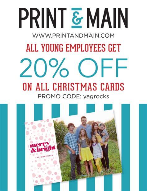 printable christmas cards for employees yag employee discount on christmas cards from print main