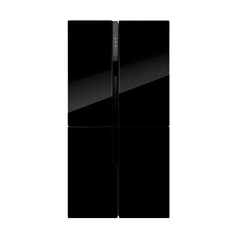 Kulkas Sharp 2 Pintu Hitam jual gea rq 56wc kulkas side by side hitam 4 pintu