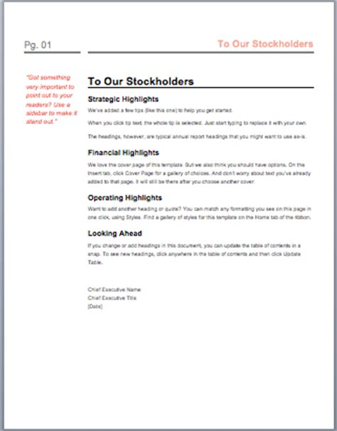 Annual Report Template Microsoft Word Templates Annual Report Template Word