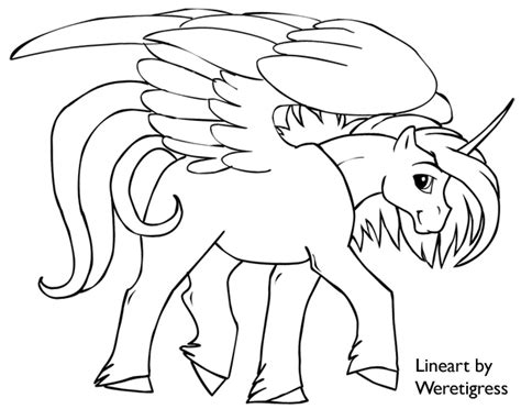 free coloring pages of winged unicorn