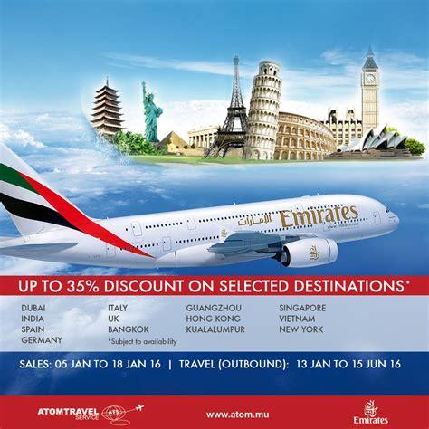 emirates promotion atom travel