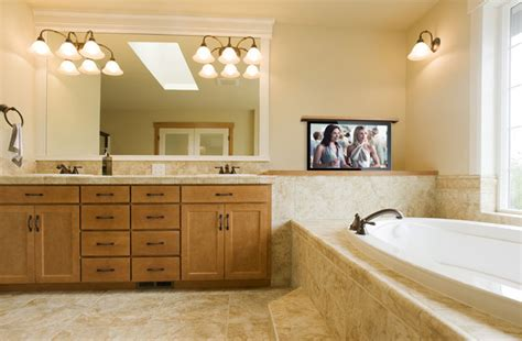 how to install tv in bathroom bathroom tv ideas television ideas for the bathroom