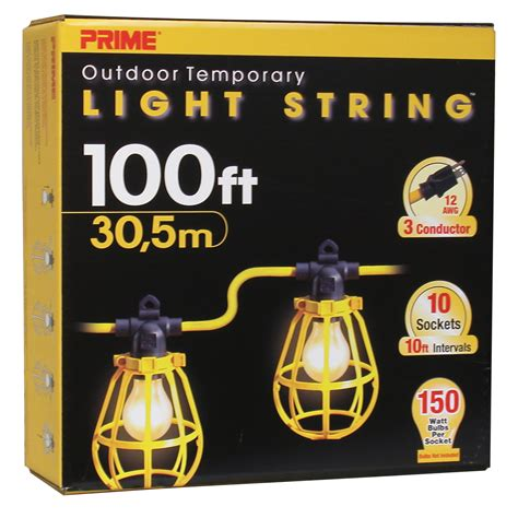 Prime Wire Lsug2835 100 Feet 10 Bulb 12 3 Sjtw Outdoor Temporary Light String