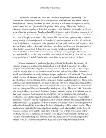 Personal Philosophy Essay by Sle Personal Philosophy Of Education Cda