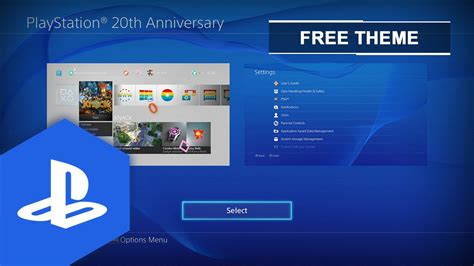 ps4 themes 20th anniversary ps4 us uk playstation 174 20th anniversary dynamic theme