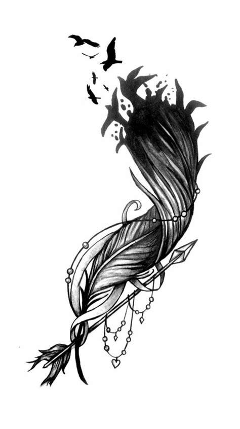 Tatto Vorlagen Muster feder bedeutung und vorlagen tattoos zenideen