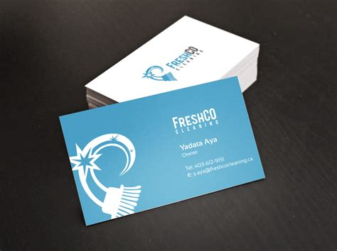 card company commercial cleaning company logo and card design digital