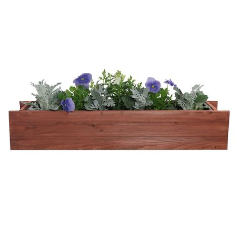home depot window boxes pennington 24 in x 7 in wood window box 100045124 the