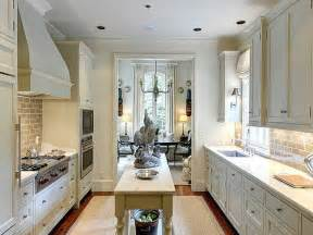Narrow Kitchen Design With Island Galley Kitchens That Rock The Decorating Files