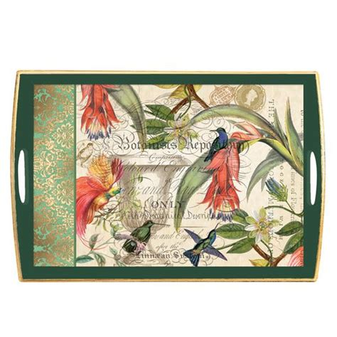 Decoupage Wooden Tray - enchanted garden decoupage wooden tray