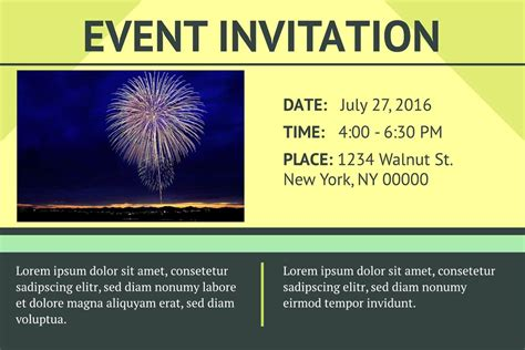 templates for events 3 free event invitation templates exles lucidpress