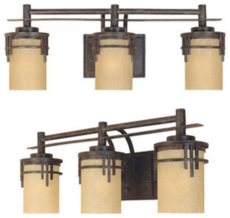 Craftsman Bathroom Lighting Mission Ridge 3 Light Bath Bar Craftsman Bathroom Vanity Lighting By Fratantoni Lifestyles