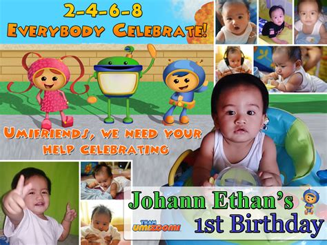layout design for 1st birthday johann ethan s 1st birthday umizoomi tarpaulin layout