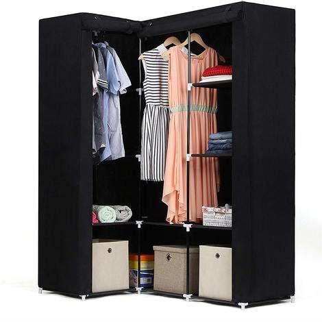 armoire textile songmics armoire d angle penderie dressing en textile non
