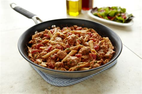 skillet ziti with ground pork pork recipes pork be inspired