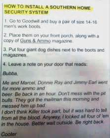 how to install a southern home security system dump a day