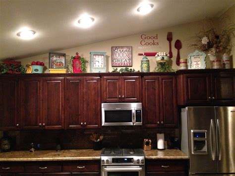 Above Kitchen Cabinet Decorating Ideas Above Kitchen Cabinet Decor Home Sweet Home