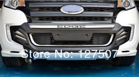 Spoiler Bumper Belakang Bawah Ford Sporty Cover Bemper Lower black chrome car bumper guard untuk ford edge 2011 2012