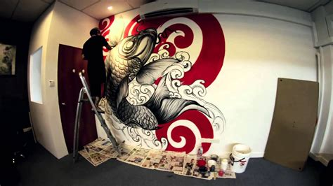 mural tattoo designs wall by donald