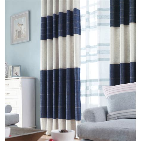 navy blue color block striped jacquard chenille modern