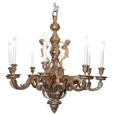 Ornate Chandeliers Ornate 19th Century Eight Light Bronze Chandelier With Cherubs And Faces For Sale At 1stdibs
