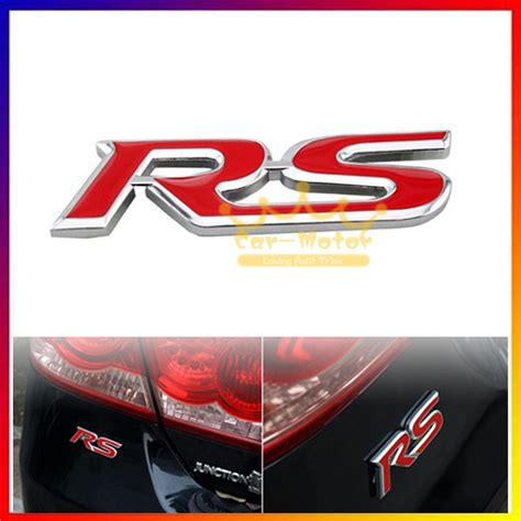 Sticker Stiker Motor Logo Club Bola 3d 1pc 3d rs logo car auto styling symbol metal alloy emblem badge sticker for ford audi chevy