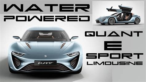 Salzwasser Auto by Salt Water Powered Quant E Sportlimousine Btf Youtube